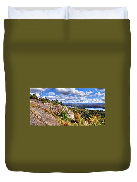 Fire Tower On Bald Mountain Duvet Cover