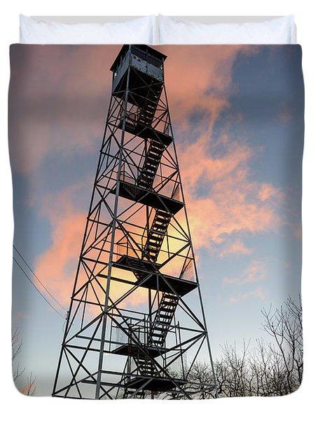 Fire Tower Sky Duvet Cover