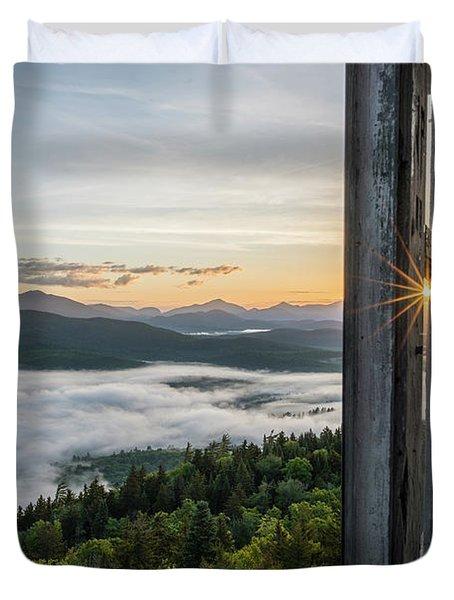 Fire Tower Sunburst Duvet Cover