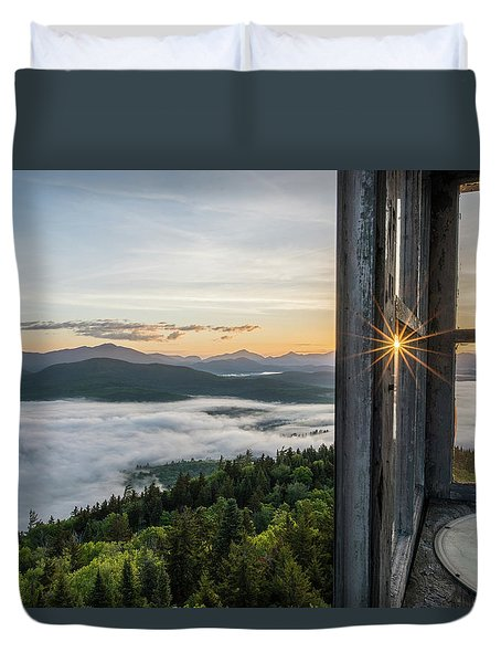 Fire Tower Sunburst Duvet Cover