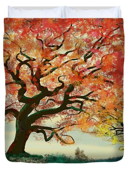 Fire Tree Duvet Cover