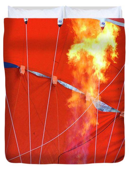 Fire Up Duvet Cover by Brian Roscorla