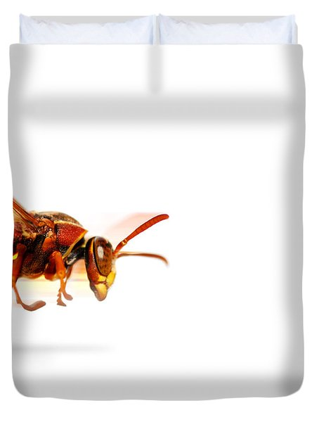 Fire Wasp Racing At Scorching Speed Duvet Cover