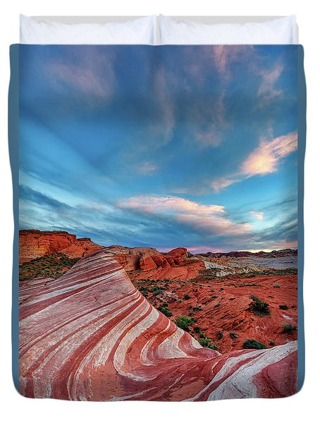 Fire Wave IIi Duvet Cover