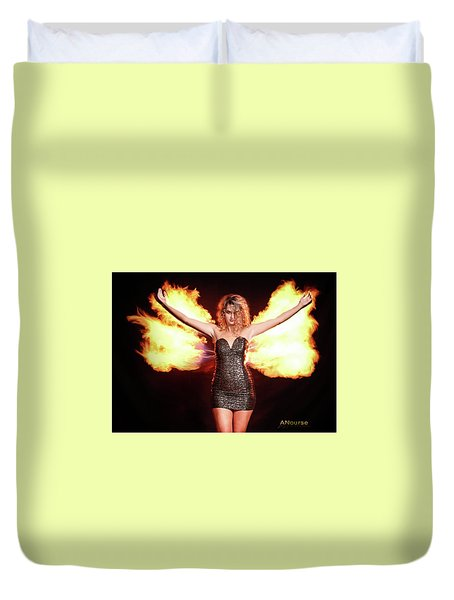Fire Wings Duvet Cover by Andrew Nourse