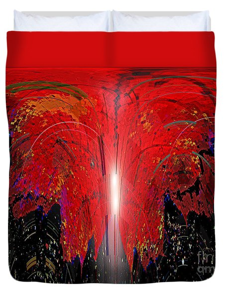 Fire Work Duvet Cover