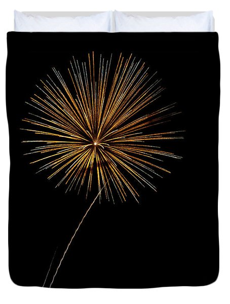 Fire Works Bursts Duvet Cover by Gary Langley