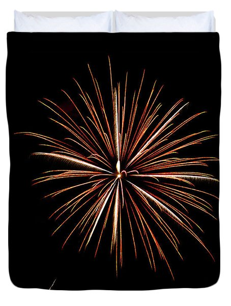 Fire Works Duvet Cover by Gary Langley