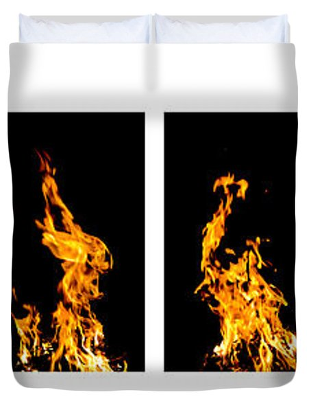 Fire X 6 Duvet Cover by Tomasz Dziubinski