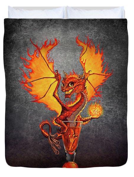 Fireball Dragon Duvet Cover