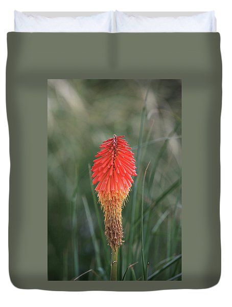 Duvet Cover featuring the photograph Firecracker by David Chandler