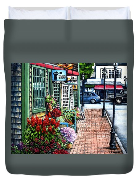 Firefly Lane Bar Harbor Maine Duvet Cover by Eileen Patten Oliver