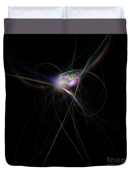 Firefly Scribble  Duvet Cover by Elizabeth McTaggart