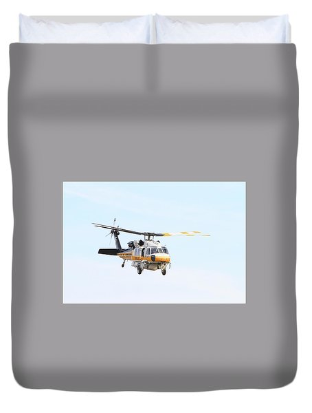 Firehawk In Flight Duvet Cover