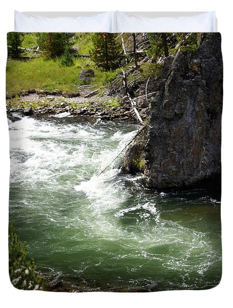 Firehole Canyon 1 Duvet Cover by Marty Koch