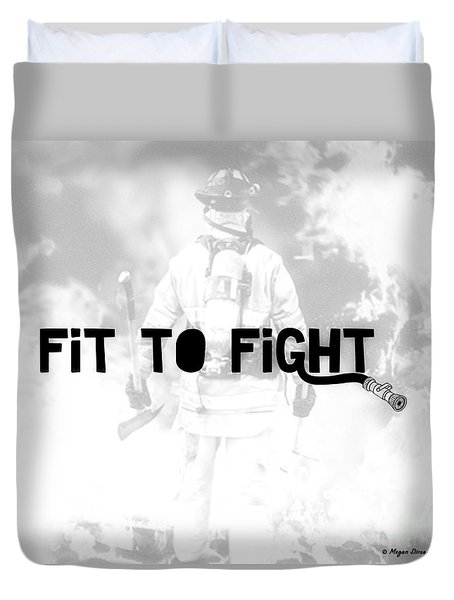 Fireman In White Duvet Cover