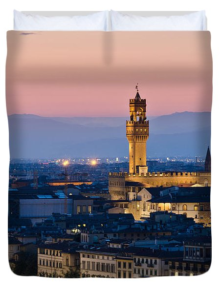 Firenze At Sunset Duvet Cover