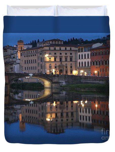 Firenze Blue I Duvet Cover by Kelly Borsheim