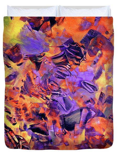 Duvet Cover featuring the photograph Firestorm by Lynda Lehmann