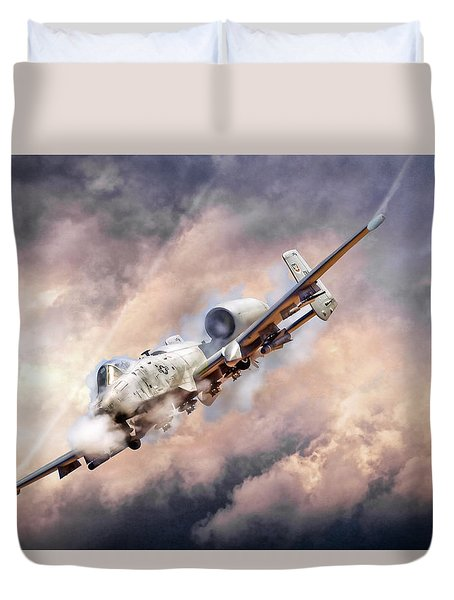 Firestorm Duvet Cover by Peter Chilelli
