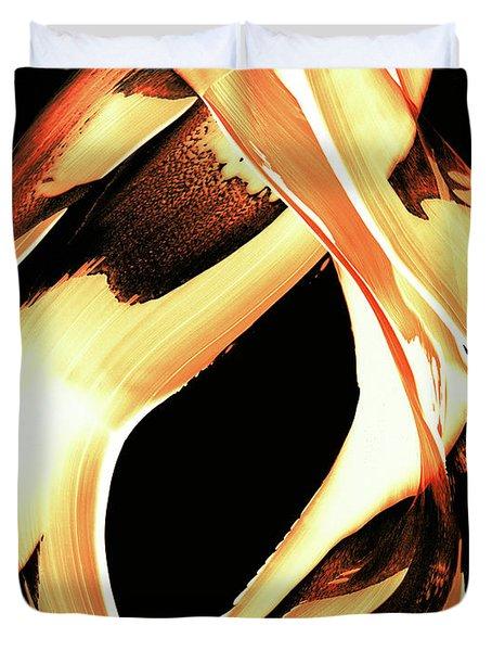 Firewater 1 - Buy Orange Fire Art Prints Duvet Cover by Sharon Cummings