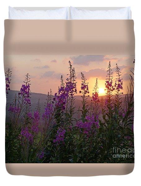 Fireweed Sunset Duvet Cover