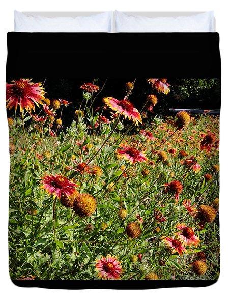 Firewheel Wildflower Duvet Cover