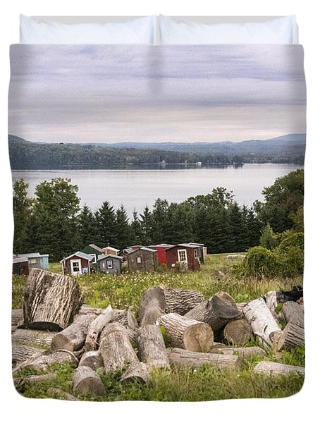 Firewood And Ice Houses Duvet Cover