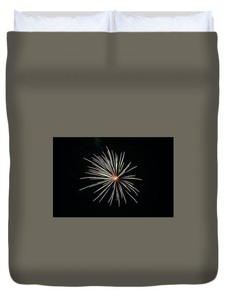 Fireworks 002 Duvet Cover by Larry Ward