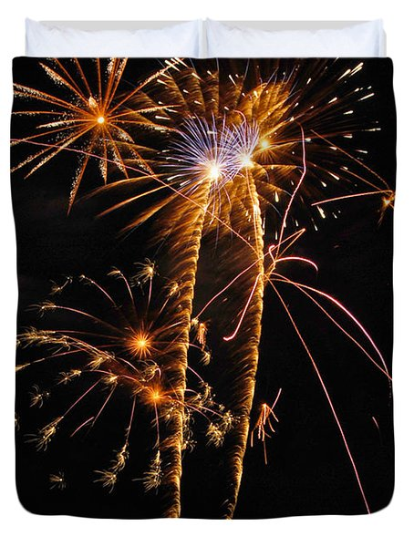 Fireworks 2 Duvet Cover by Michael Peychich