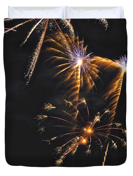 Fireworks 3 Duvet Cover by Michael Peychich