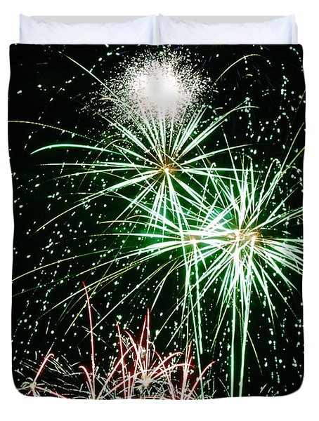Fireworks 4 Duvet Cover by Michael Peychich