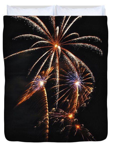 Fireworks 5 Duvet Cover by Michael Peychich