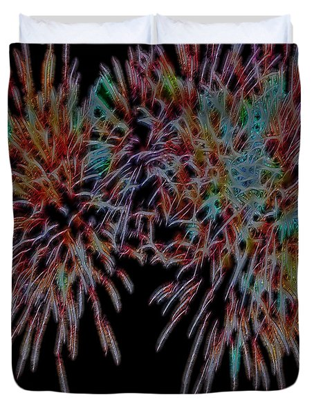 Fireworks Abstract Duvet Cover
