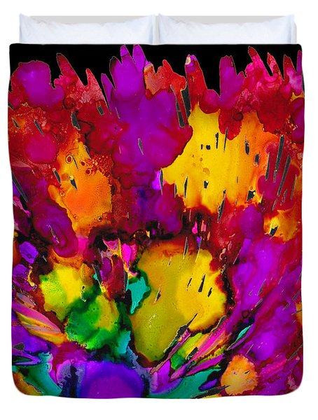 Fireworks Duvet Cover by Angela Treat Lyon
