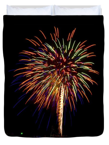 Fireworks Duvet Cover by Bill Barber