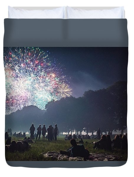 Fireworks For Saint John Duvet Cover