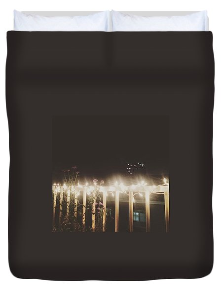 Fireworks Duvet Cover by Lily Foist