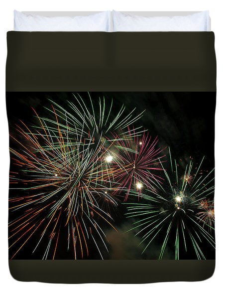 Fireworks Duvet Cover by Glenn Gordon