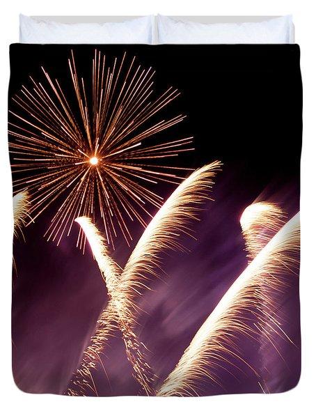 Fireworks In The Night Duvet Cover
