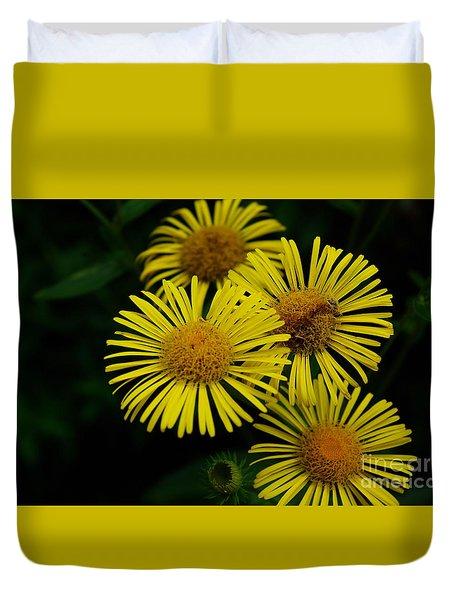 Fireworks In Yellow Duvet Cover by John S