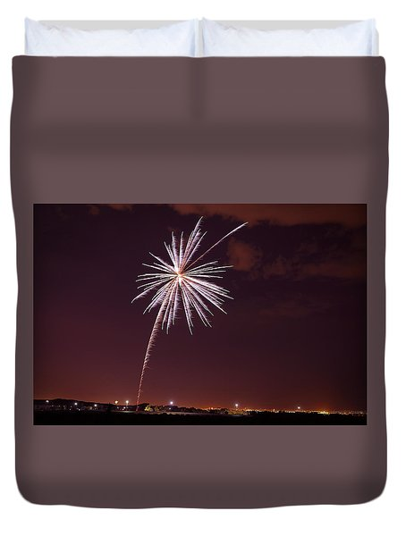 Fireworks July4 2013 Duvet Cover