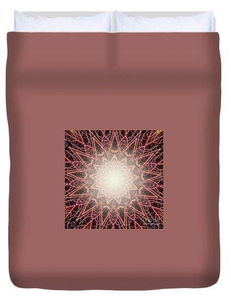 Fireworks Kaleidoscope Duvet Cover
