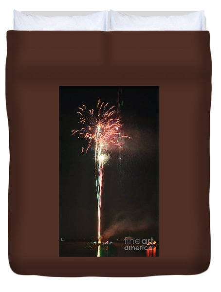 Fireworks On The Lake Duvet Cover