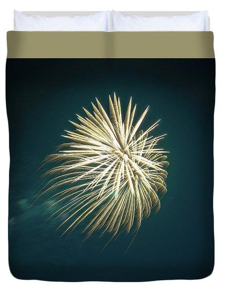 Fireworks Over Texas Duvet Cover