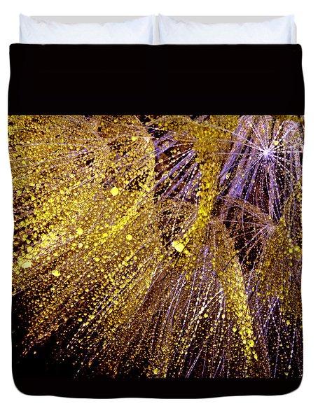 Fireworks Seed Duvet Cover by Sandra Foster