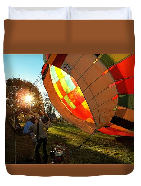 Firing Up Duvet Cover by Joyce Kimble Smith
