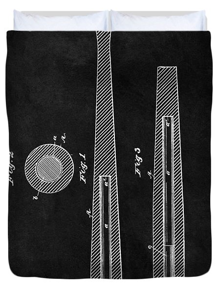 First Baseball Bat Patent Illustration Duvet Cover