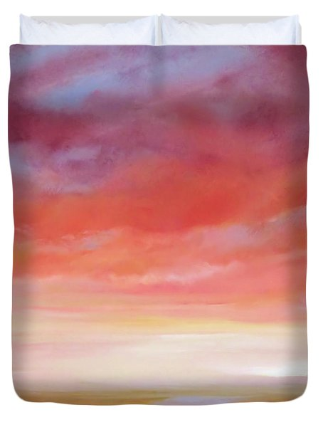 Duvet Cover featuring the painting First Blush By V.kelly by Valerie Anne Kelly
