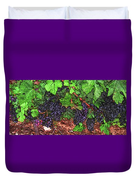First Came The Grape Duvet Cover